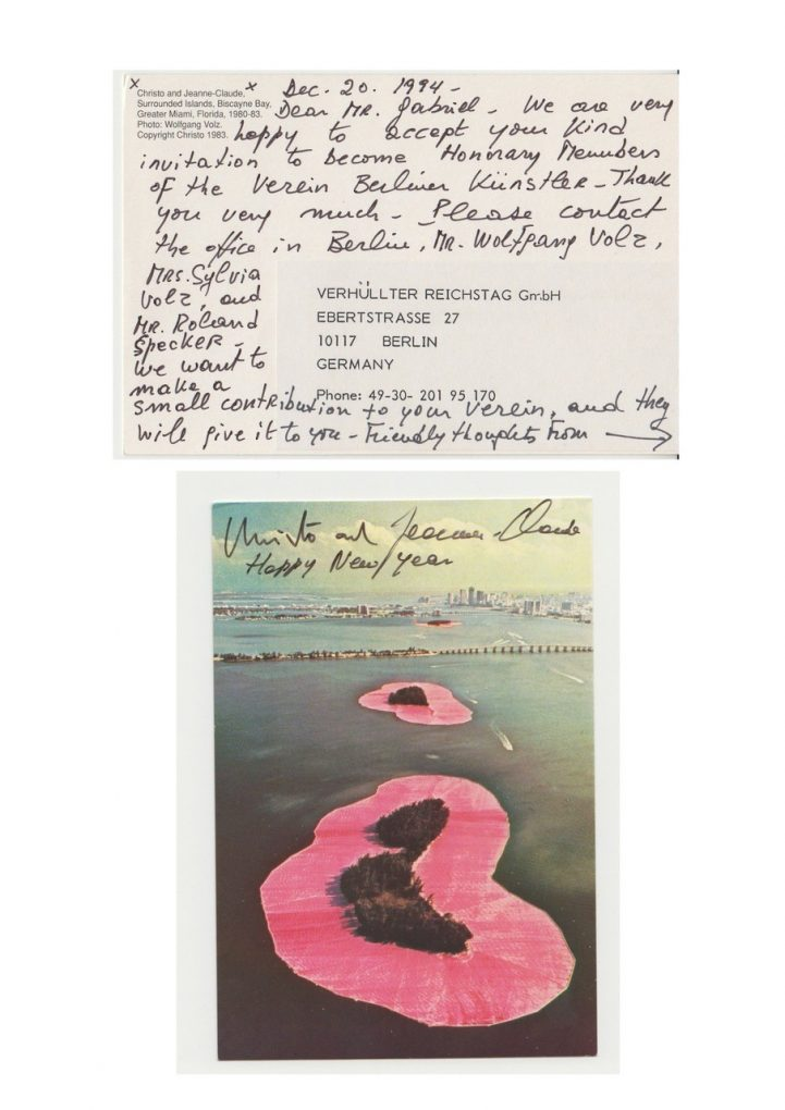 Postkarte Christo